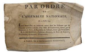 Trois documents de l'époque révolutionnaire sur l'Assemblée Nationale .1789-90