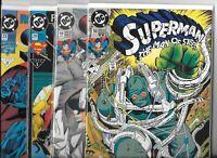 Superman: The Man of Steel  #18, #19, #20 & #23  Lot of 4 (1992/93, DC Comics)