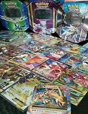 50 Card Pokemon Lot Guaranteed EX / GX 1 Ultra RARE in XY or Sun & Moon Tin