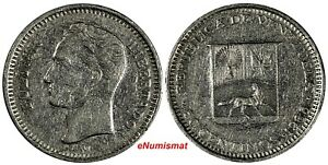 Venezuela Nickel 1965 50 Centimos Minted in the United Kingdom Y# 41 (18 606)