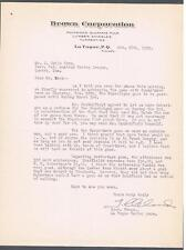 1929 Hockey Minor League La Tuque Signed Letter By J. Cleland