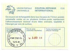 Judaica Israel Old Reply Coupon Reponse International IRC 3.8 Li.  1980