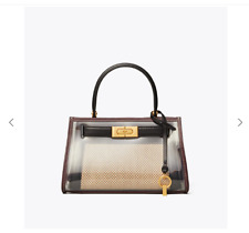 Tory Burch Lee Radziwill  Petite Bag Purse with Rain Cover - New - BLACK Natural