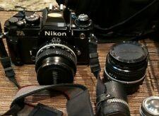 Mint Nikon Fa Black 35mm Slr Film Camera With Many Accessories