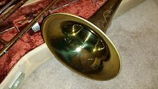 E.K. Blessing Standard model slide trombone with a Holton case
