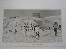 Montagne Ski l'après midi sur le plateau de Superbagnères  Image Print 1923
