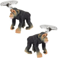 Monkey Cufflinks Hand Painted Direct from Cuff-Daddy
