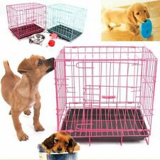 20'' Pet Kennel Cat Dog Folding Crate Playpen Wire Metal Cage Puppy House