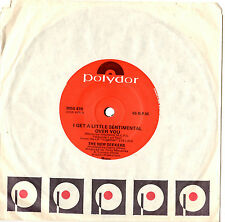 "THE NEW SEEKERS - I GET A LITTLE SENTIMENTAL OVER YOU - 7"" 45 VINYL RECORD 1974"