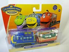 Chuggington wooden rail series Chuggineer Brewster with Digger Car Blue Star and