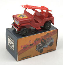 Maxwell Toys (India) No.606 Maxwell Mini Fire Service Jeep 1970s * MIB *