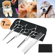 """7"""" Professional Pet Dog Grooming Scissors Shear Hair Cutting Set Curved"""