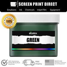 Ecotex Green Premium Plastisol Ink For Screen Printing 1 Pint