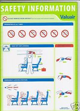 Safety Card - Valuair - Airbus A320 (Singapore) (S1883)