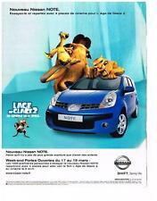PUBLICITE ADVERTISING   2006   NISSAN  NOTE  L'AGE DE GLACE 2