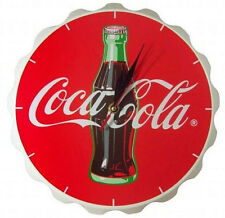 Coca Cola: Bottle Crown Wooden Battery Operated Wall Clock - New & Official