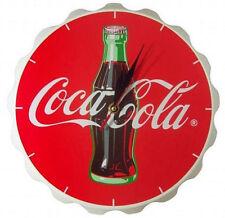 Coca Cola: Corona De Botella Madera Funcionada Con Batería Reloj Pared & Oficial