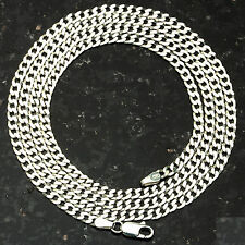 "Curb 080-24"" 3mm Heavy 8.6 Gram Italian Link .925 Sterling Silver Chain 24"""