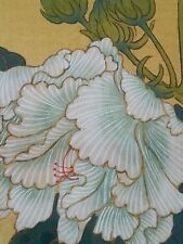 """Vintage Japanese painting on silk """"Butterflies""""  artist signed, 18×24 inches"""