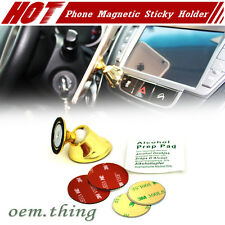 Universal 360 Degrees Magnetic Sticky Stand Holder For Mobile Phone Golden Color