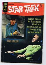 STAR TREK 5 2.0 PIECE MISSING ON BACK COVER GOLD KEY TRICKED 1969 PC