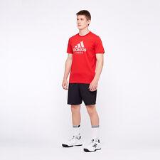 New Mens Adidas Essential Scarlet  Polo T-Shirt Top Tennis Top