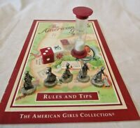 The American Girls Board Game 1999 Game Pieces Timer  Dice