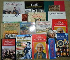 HUGE Lot of 14 GEORGE WASHINGTON Abraham Lincoln Presidents HOMESCHOOL TEACHER