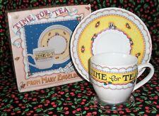 """Mary Engelbreit """"Time for Tea"""" Teacup & Saucer (Nib)"""
