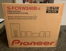 NEW SEALED PIONEER S-FCRW240B 6 PIECE HOME STEREO SYSTEM SILVER