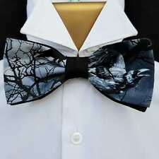 Raven Gothic Pre-Tied Dickie Bow Tie Hair Prom Bowtie Hair feeanddave