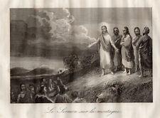 GRAVURE RELIGION /  LE SERMON SUR LA MONTAGNE