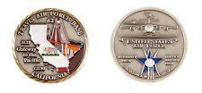 TRAVIS AIR FORCE BASE CALIFORNIA GOLDEN GATE BRIDGE CHALLENGE COIN