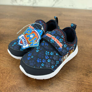 SIZE 6 Toddler Boy's Sneakers PAW Patrol Light Up SHOES Blue Kids NWT