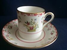 Wedgwood Bianca small coffee can /cup & saucer