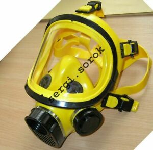 Full Face Yellow Facepiece GENUINE Gas Mask Respirator GP-9 2016 filter GP-5 new