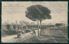 Roma Via Appia Acquedotti di Claudio cartolina XB4654