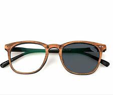 Transition /Photochromic Full-rim Wood Reading glasses Sun Glasses +0.25 to +6.0