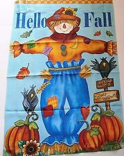 "Fall Porch Flag  28"" X 40"" HELLO FALL / SCARECROW  Rain or Shine Flip-It Flag"