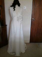 Unbranded Satin V Neck Wedding Dresses