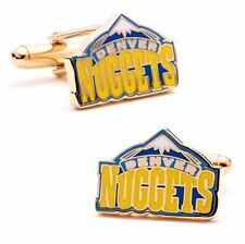 Denver NUGGETS vintage logo CUFFLINKS licensed by NBA with gift box-MIB 70% off!