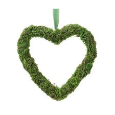 Wedding Hanging Decoration Heart  Moss Chair Aisle Rustic Vintage Wreath