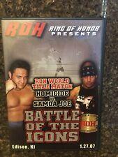 ROH Battle of the Icons DVD Ring Honor Wrestling Samoa Joe Cabana WWE NXT PWG