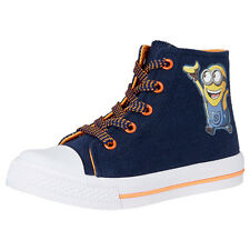 NWT Minions Licensed Boys Canvas High Top Sneakers Shoes Size 13 or Youth 1