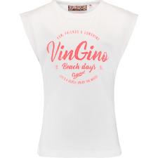 VINGINO GIRLS T-SHIRT HILDE REAL WHITE NEU SOMMER 2018 Gr. 116 / 6 Y