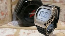 Casio G-Shock DW-5600BBMA-1ER fitted with Silver Polished/Brushed Metal Bezel