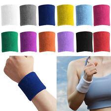 Sports Yoga Basketball Unisex Cotton Sweat Band Sweatband Wristband Wrist Band