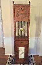 Antique Mission Arts/Crafts Grandfather Clock Junghans B13 Movement Stickley?