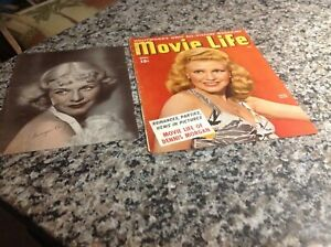 Ginger Rogers vintage fan photo and magazine cover...beautiful!