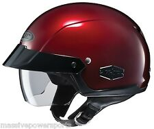 HJC IS-Cruiser Motorcycle Half Helmet Wine Red XL Extra Large Sunshield DOT